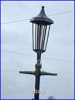 11ft Victorian T-Bar Lamp Post with Copper Top Lamp