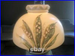 Antique Bradley & Hubbard Hand Painted Oil Lamp Gone with the Wind JAN. 21, 1890