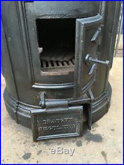 Antique Cast Iron Victorian Forth Scullery Laundry Copper Stove Range Fireplace