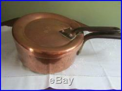 Antique Country House Copper Pan Matching Lid Jones Bros