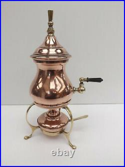 Antique Late 19th early 20th Century Copper Coffee Percolator Spirit Kettle