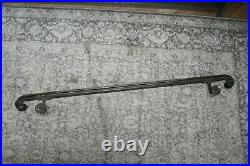 Antique Solid Brass And Copper Railway Station Wall Mounted Handrail Very Heavy