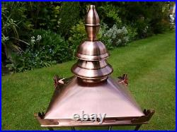 Antique Style Victorian Lantern Lamp Post Top In Brushed Copper Finish 3529