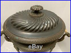 Antique Victoria COPPER SAMOVAR Egyptian Revival Large Hot Water Urn Paw Feet