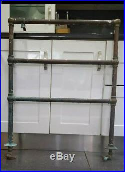 Antique Victorian Copper And Brass Heated Towel Rail Radiator