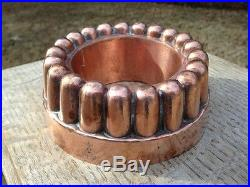 Antique Victorian Copper Jelly Cake Mold Benham Froud Fluted/Crown Design #449