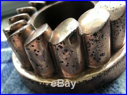 Antique Victorian Copper Jelly Mold Mould Benham Froud # 521 Tiered Coin Design