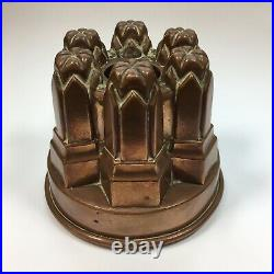 Antique Victorian Copper Jelly Mould No. 60 12cm In Height
