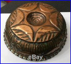 Antique Victorian Copper Round Food Jelly Pudding Mould Mold Star Snowflake