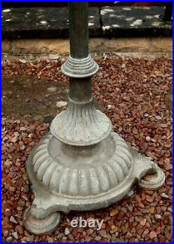 Antique brass, copper & cast iron oil standard lamp for restoration / upcycling