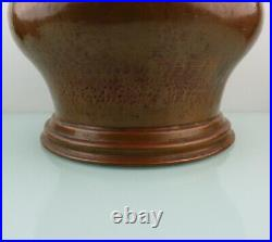 Antique handcrafted large victorian brass copper plant pot planter. 19th C