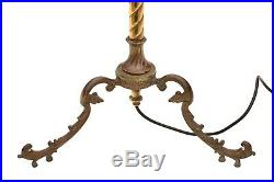 Antique quality brass and copper reading lamp C1920