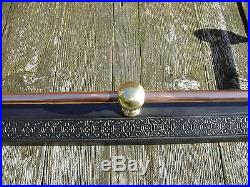Cast iron victorian brass and copper rod and ball fender