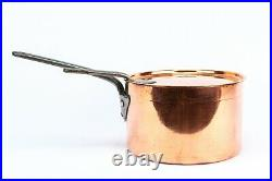 Copper Saucepan and Lid Victorian 19th Century Antique Polished Cooking Pot