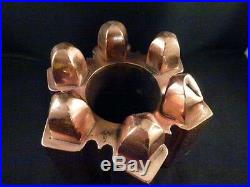 English Jelly Pudding Art Copper Victorian Food Mold Antique