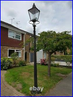 Foster And Pullen 1930's Copper Street Lantern And Cast Iron Post