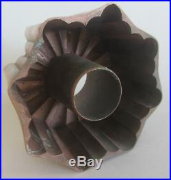 French Antique Victorian Lined Copper Jelly Ring Mould 1870 Moule A Jelly
