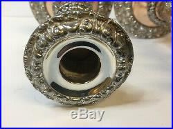 Pair Victorian Silver Plate on Copper Telescopic Candlesticks 19th Century