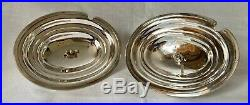 Pair of early Victorian Silver Plate on Copper Sauce Tureens & Covers circa 1850