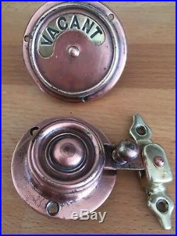 Railway carriage Vacant Engaged toilet lock original authentic Victorian