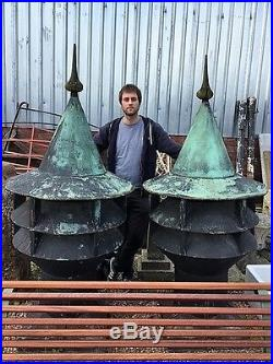 Reclaimed Large Pair Of PM Walker Victorian Copper Air Vents Warwick Reclamation