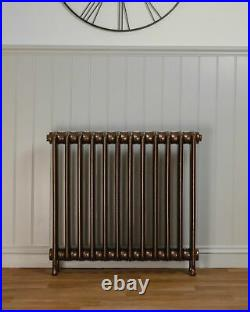 Twelve Column Solid Cast iron Victorian radiator finished in antique copper
