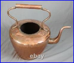 Very Large Antique Copper Advertising Kettle