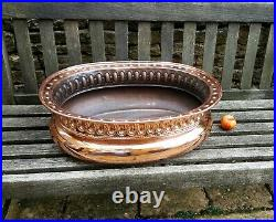 Very large antique copper jardiniere planter or potential wine cooler / wash tub