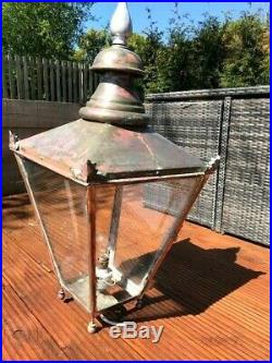 Victorian Cast iron and Copper Antique Street Light Lamp Post 14ft (4.26mtr)