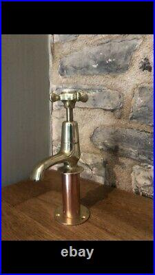 Vintage Brass and Copper Taps Pair