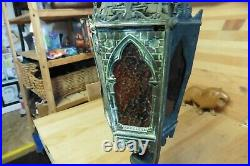 Vintage Copper Gothic Lamp and sconce Church steeple Victorian